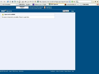 MSN takedown screenshot